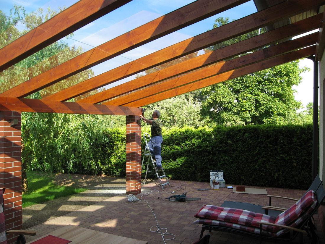 Oprava terasy a vybudování zastřešení